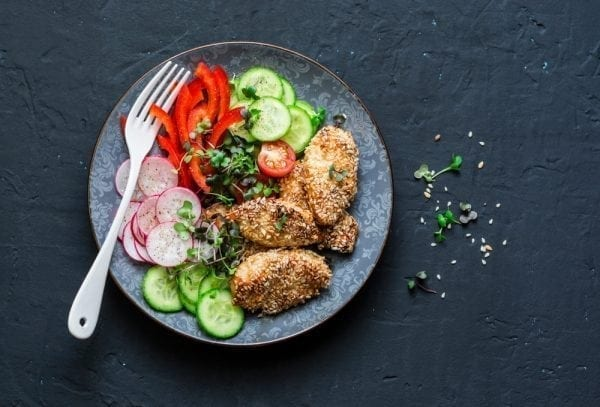 Sesame Crusted Chicken Breasts - from Dinner Factory