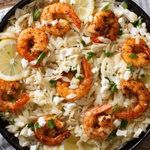 Prawns with Feta and Orzo (NEW)
